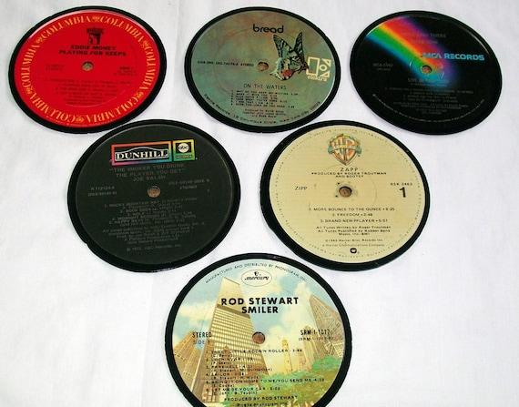 Vinyl Music Record Album coasters set of 6 Free shipping