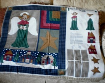 Fun and Festive Christmas Village Angel Panel