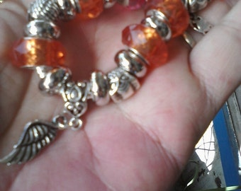 Pagan Wiccan Spirit of the Owl, Euro style bracelet