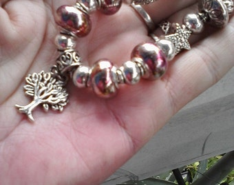 Pagan Wiccan Tree of life, Euro style bracelet