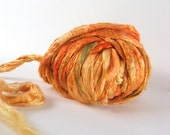 1 oz (28g) Silk Roving AUTUMN HARVEST Mulberry Fiber Hand dyed