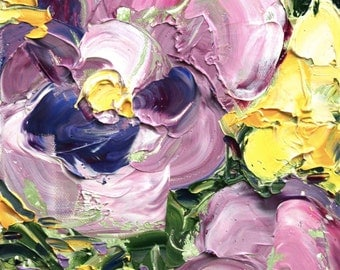 Fresh Flowers Triptych No.20-2, limited edition of 50 fine art giclee prints
