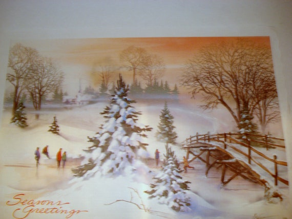 Vintage Christmas Placemats & Napkins Boxed Set Paper