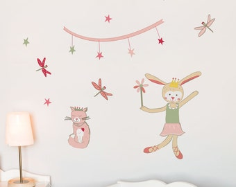 Pierrette Pirouettes - kid wall decal
