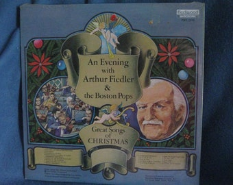 "SEALED, Vintage An Evening With Arthur Fiedler & The Boston Pops ""Great Songs For Christmas/For All Seasons"" Vinyl 2 LP Set"