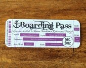 Boarding Pass Invitation - (Printed Invitations, Digital Invitations, DIY Invitations, Digital Invites)