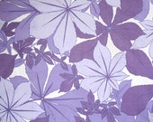 Vintage Retro 1960's 1970's Bed Sheet in Purple and Lilac