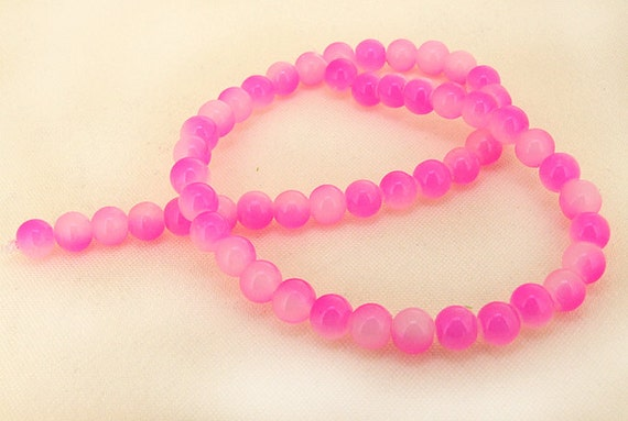 """Charm Peach Candy Jade Glass Gemstone Beads ---- 10mm ----about 39beads----about 16"""" in length"""