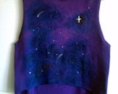 Glow in the Dark Galaxy Crop Top Free Shipping