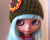 Olive You - Fall Beanie for Blythe
