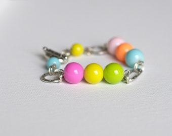 Fruity Bubble Gum Glass Beads Bracelets