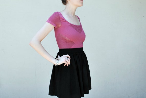 MAE.VALENTE Vintage 90s Stretchy Top with Mesh Paneling