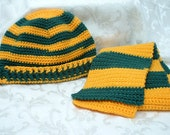 Green Bay Packers Hat and Scarf Set