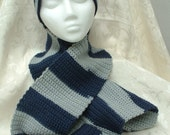 Dallas Cowboys Blue and Silver Hat and Scarf Set - crochet