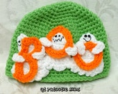 Ghostly BOO Hat PATTERN - crochet
