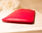 Sale. Samsung Galaxy Note fuscia leather sleeve case. Ready to ship.