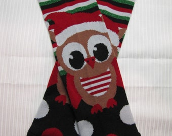 Baby/toddler/child Christmas leg warmers, owl, leggings, photo prop, holiday