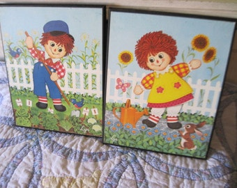 Darling Raggedy Andy and Raggedy Ann  Pictures Set