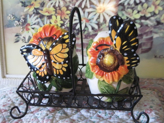 Very Different Unique Butterfly Salt and Pepper Shakers Really Pretty