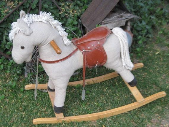 Vintage Cloth Rocking Horse