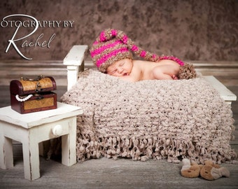 Distressed Newborn Bed and Nightstand Photography Prop