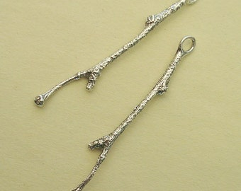 jewelry making supplies sterling earring findings silver twig FT002-2