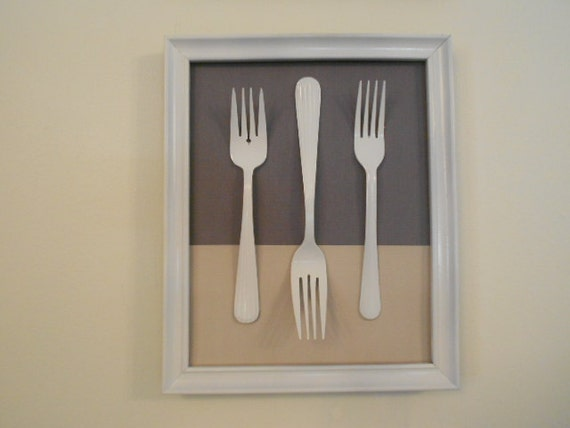 Https Etsy Com Listing 106445946 Knife Fork And Spoon Kitchen Wall Decor