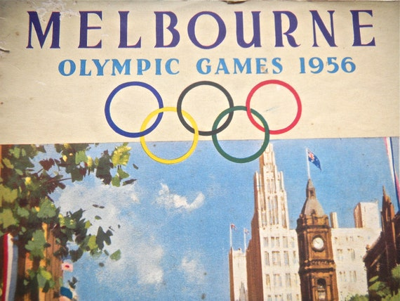 Olympic Games Souvenir Booklet, Melbourne 1956 - Australian Olympics 1956