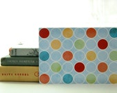 SALE - 50% OFF -- Pleasant Valley Dots Notecard - Blank 4x5.5 Note Card, Single or Set of 4 - Retro, Polka Dots, Rainbow, Beach, 1960s