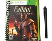 Fallout New Vegas Notebook Journal UpCycled Eco Friendly X360 Videogame