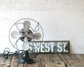 black fan - smaller desk size farmhouse decor vintage electric black fan beach house minimal decor