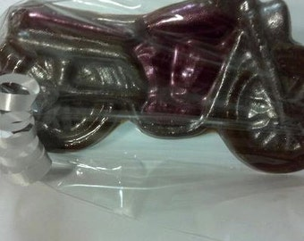 Motorcycle Chocolate Lollipop Favors