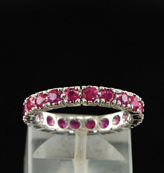 Superb ruby eternity ring