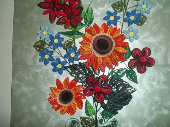 Items Similar To Flowers Home Decor Paper Quilling