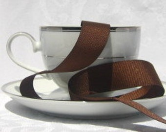"Brown Grosgrain Ribbon 7/8"" wide - 3 yards"