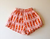 1950's Geo Swim Trunks/Shorts, Pink & Orange - Size 2-3x (toddler)