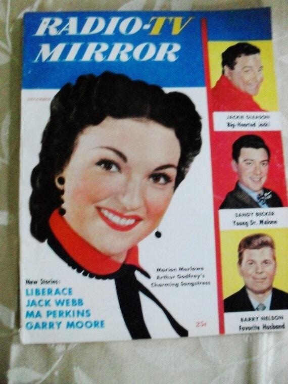 Vintage Retro Magazine 1950s Radio TV Mirror