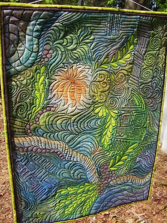 Out of the Dark art quilt