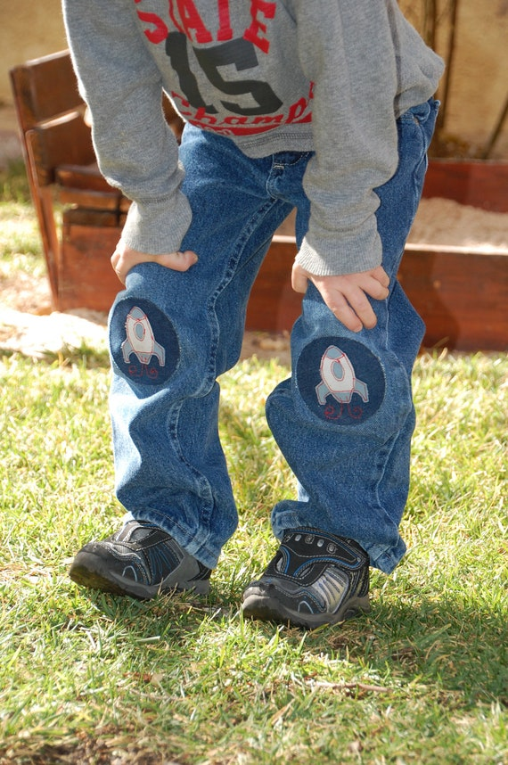 Outer Space Jean Repair Patch for Boys
