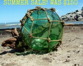SUMMER SALE 33'' Antique Japanese Blown Glass Buoy-Float