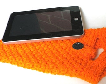 Nook Tablet Cover or Kindle Fire Cover Sleeve Jacket Case Pouch - Handmade Crochet