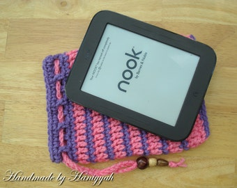 Nook Simple Touch cover or Kindle Case Sleeve Jacket Bag - Handmade Crochet