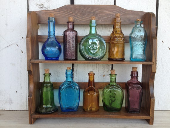 Vintage 10 Miniature Bitters medicine bottles beautiful suncatchers perfect for oil blends or spices