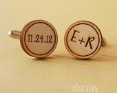you and me wood cuff links