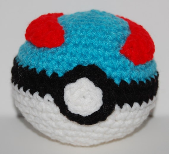 Amigurumi Crochet Ball : Items similar to Crochet Great Ball Pokeball Amigurumi on Etsy