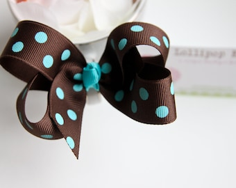 Brown Bow Hair Clip Kids Hair Bow Girls Hair Bow Toddler Hair Bow Baby Hair Bow