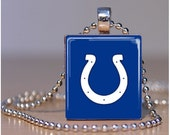 Indianapolis Colts - Scrabble Tile Pendants by ThatsSoCoolStudio