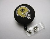 New Orleans Saints Retractable ID Badge Reel - Badge Reels by ThatsSoCoolStudio