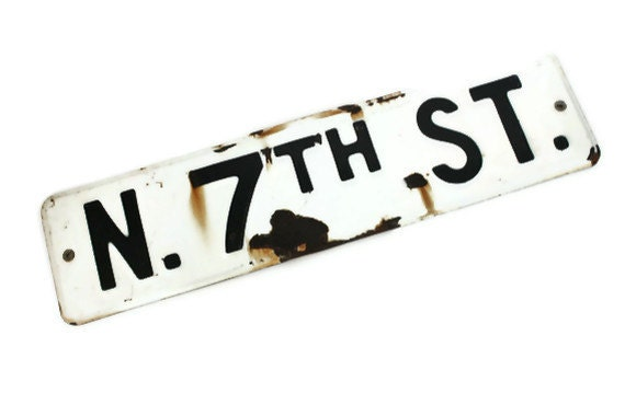 Front Page Featured-Rustic Vintage Street Sign Black and White Industrial Decor