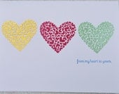 Embossed Hearts Thank You Card Pack of 10
